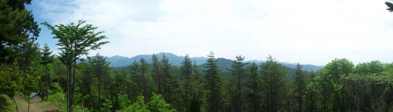 高鳥谷山 - 南アルプス側の展望
