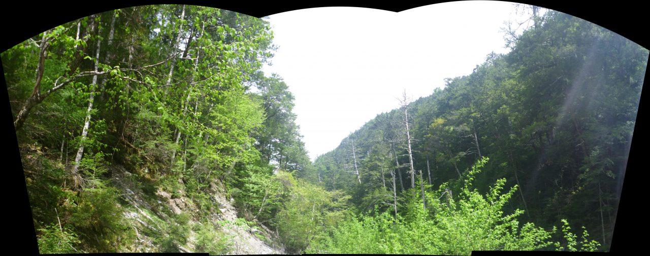 岳沢越し - 三峰川に到着