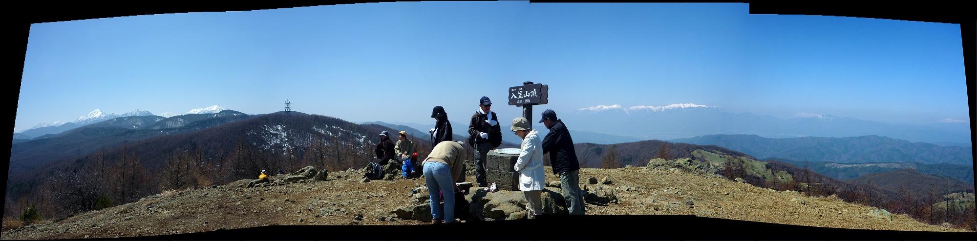 入笠山 - 山頂パノラマ