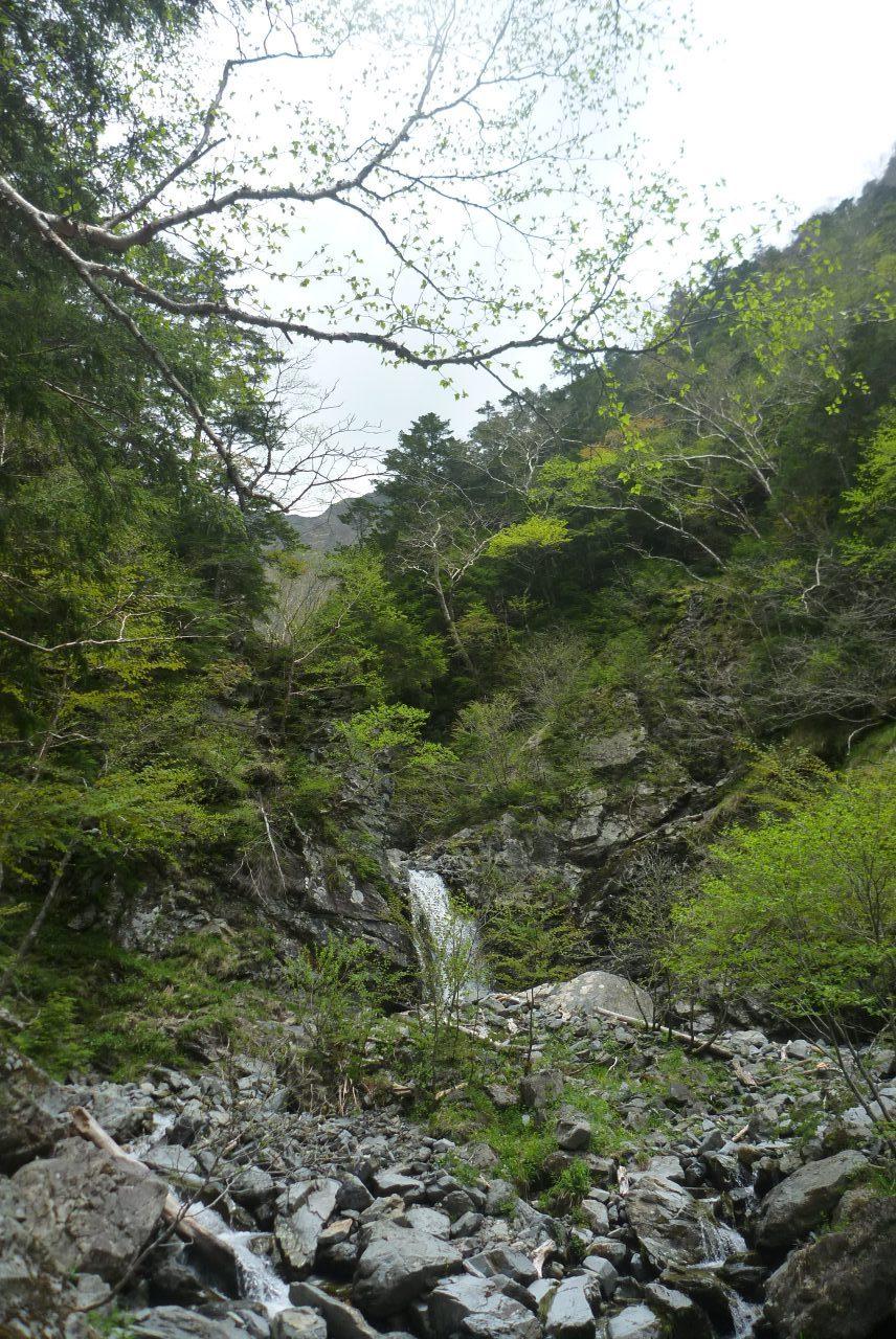三軒岩小屋沢 - 上流の滝